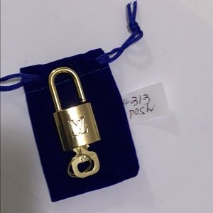 Authentic Louis Vuitton Padlock And Key #313
